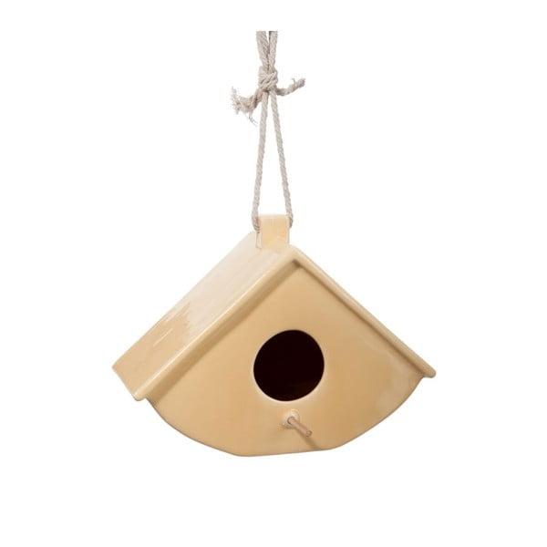 Závěsná ptačí budka Cer Yellow, 25x14x18 cm