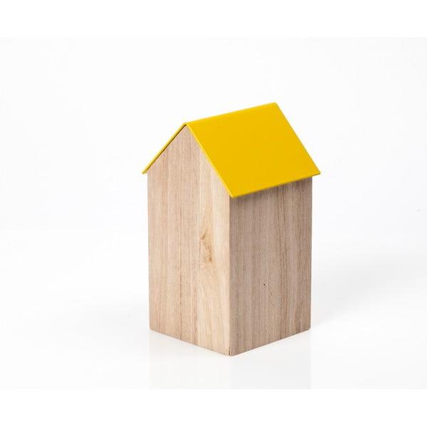 Žlutý úložný box House Medium