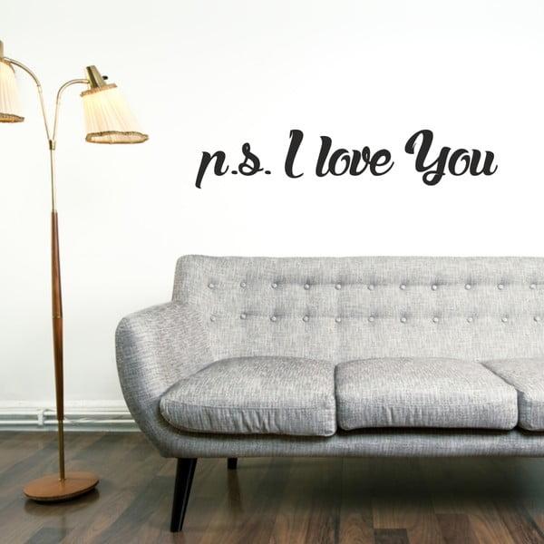 Samolepka na stěnu Wallvinil P.S. I Love You