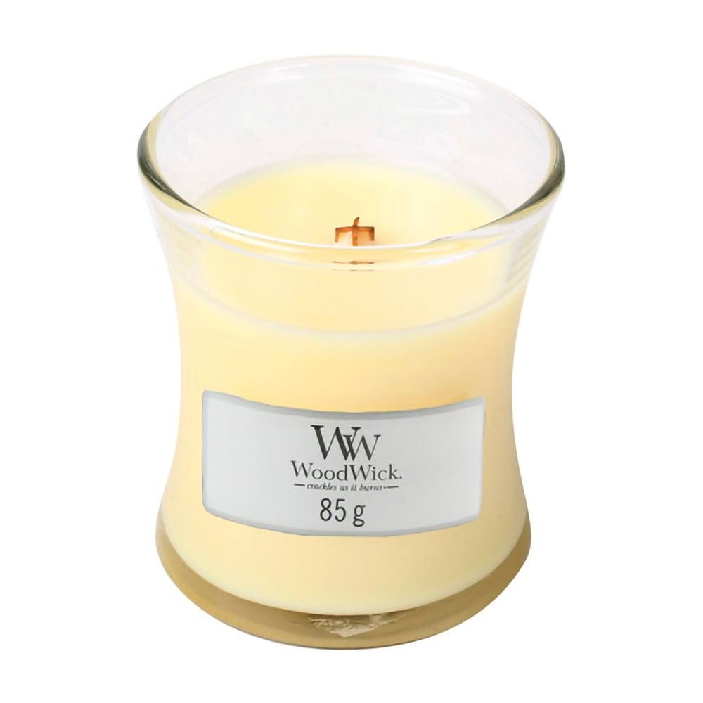 Vonná svíčka WoodWick Citronová tráva a lilie, 20 hodin hoření