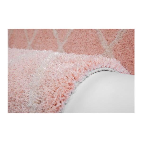 Růžový ručně vyráběný koberec Obsession My Feel Me Fee Powder, 80 x 150 cm