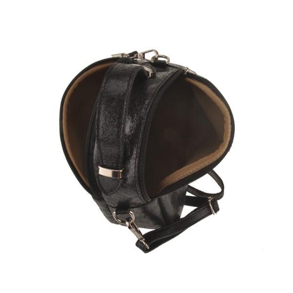 Kožená kabelka Men, černá