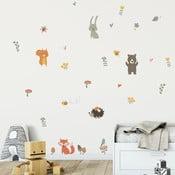 Set autocolante pentru perete Ambiance Funny Scandinavian Animals