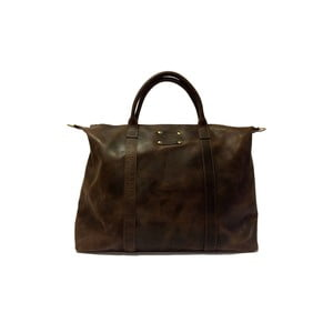 Kožená vintage cestovní taška Andie's, tmavě hnědá
