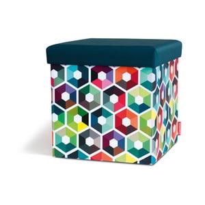 Taburetka s úložným prostorem Remember Hexagon