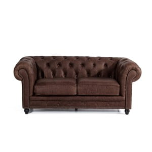 Canapea din piele cu 2 locuri Max Winzer Orleans, maro
