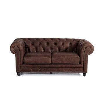 Canapea din piele cu 2 locuri Max Winzer Orleans maro
