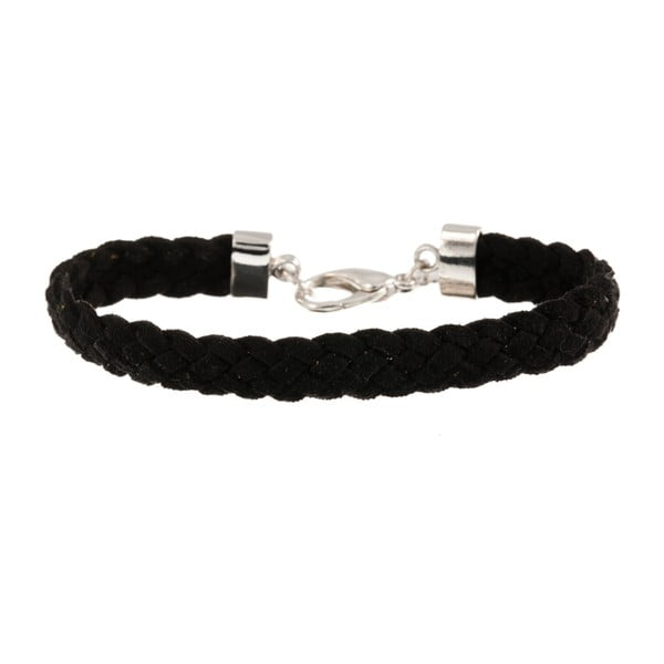 Náramek Strand braided silver, black