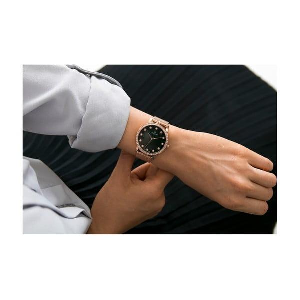 Dámské hodinky s páskem z nerezové oceli v růžovozlaté barvě Frederic Graff Mont Gele
