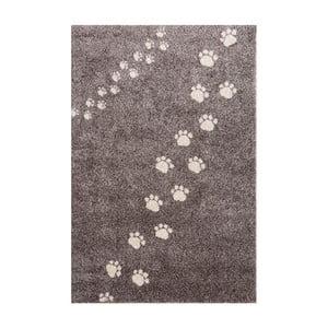 Šedý koberec Art For Kids Footprints, 135x190cm