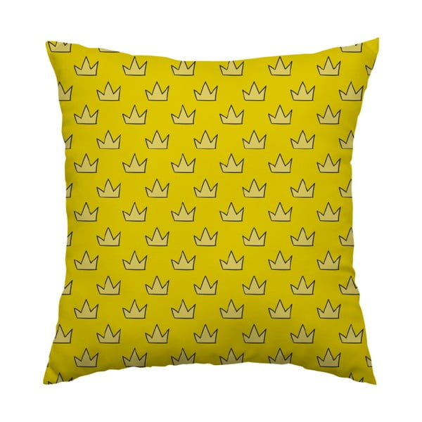 Polštář Yellow Crown, 40x40 cm