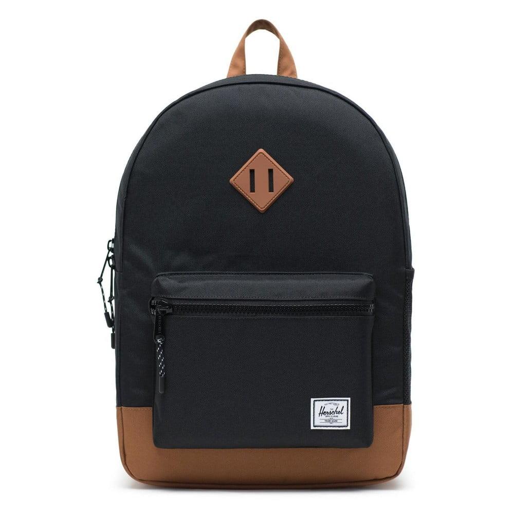 Černý batoh s hnědými detaily Herschel Heritage