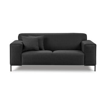 Canapea cu 2 locuri Cosmopolitan Design Seville gri închis