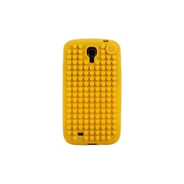 Pixelový obal na Samsung S4, středně žlutá