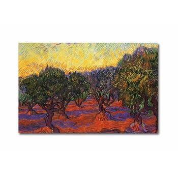 Reproducere tablou pe pânză Vincent Van Gogh Olive Trees, 70 x 45 cm