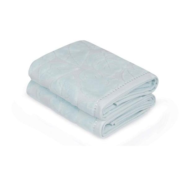 Sada 2 modrých ručníků Madame Coco Velver, 50 x 90 cm