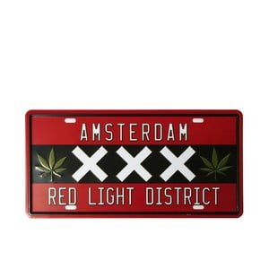 Cedule Red Light, 15x30 cm