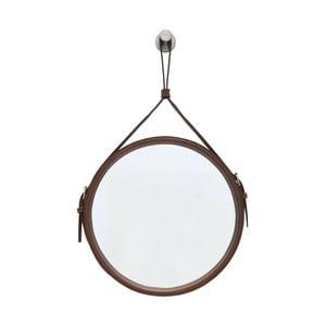 Závěsné zrcadlo v hnědém rámu RGE Elvis, ø 50 cm