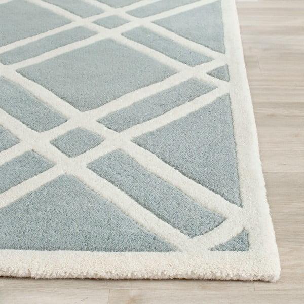 Vlněný koberec Cameron Light Blue, 152x243 cm