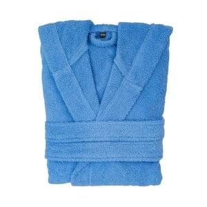 Modrý bavlněný župan s kapucí Casa di Bassi, velikost L/XL