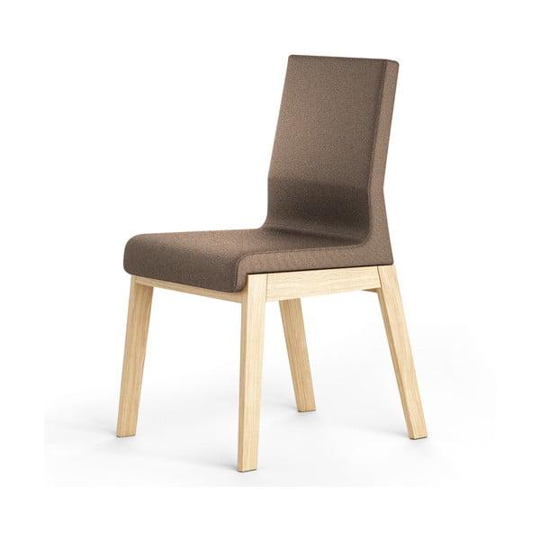 Hnědá židle z dubového dřeva Absynth Kyla