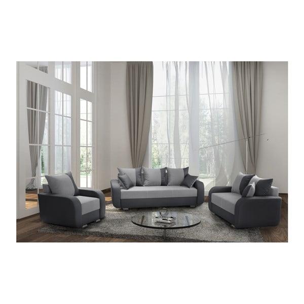 Canapea cu 2 locuri INTERIEUR DE FAMILLE PARIS Destin, gri antracit