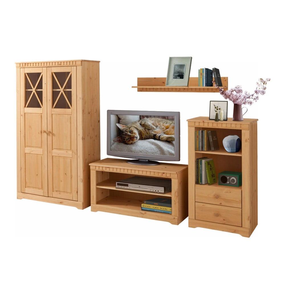4dílný set do obývacího pokoje z borovicového dřeva Støraa Claire