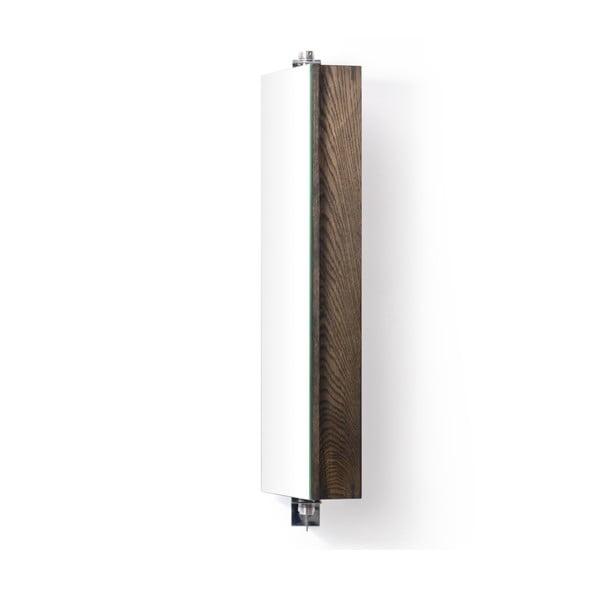 Otočné zrcadlo s úložným prostorem Wireworks Mezza Dark, výška 71 cm