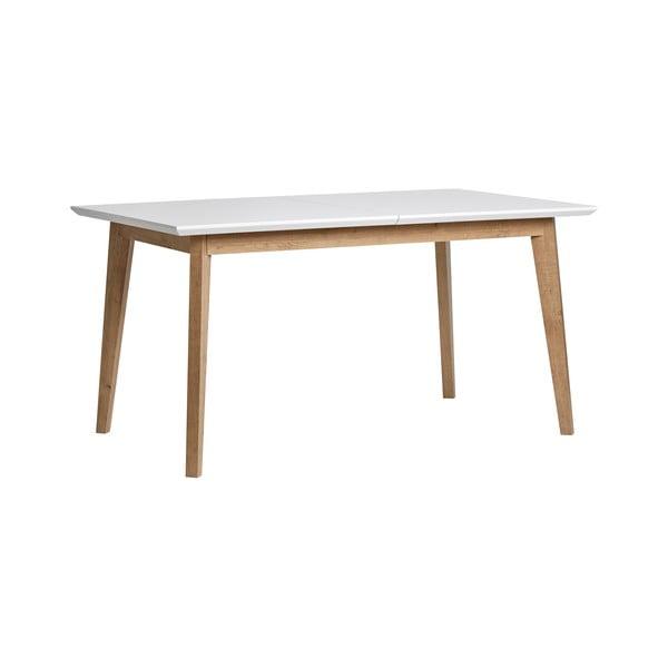 Stół rozkładany do jadalni z białym blatem Marckeric Libra