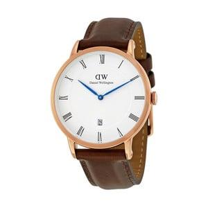 Dámské hodinky s hnědým páskem Daniel Wellington Durham Rose, ⌀34mm