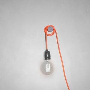 Oranžový textilní kabel s objímkou Filament Style Cable