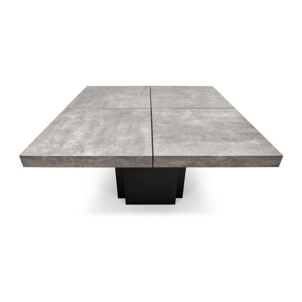 Dusk étkezőasztal beton dekorral, 130 x 130 cm - TemaHome