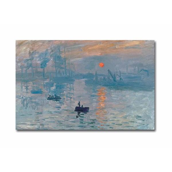 Fali vászon kép Claude Monet Sunrise másolat, 70 x 45 cm