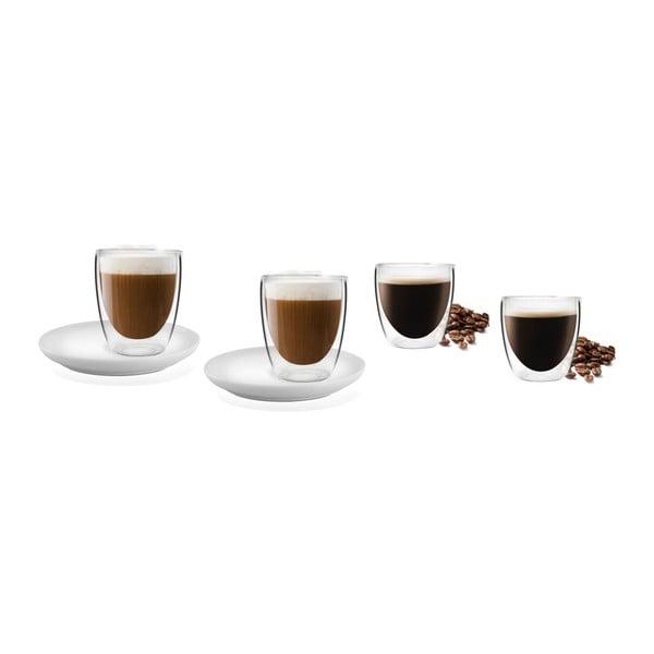Set 4 pahare cu perete dublu Vialli Design Cups Set
