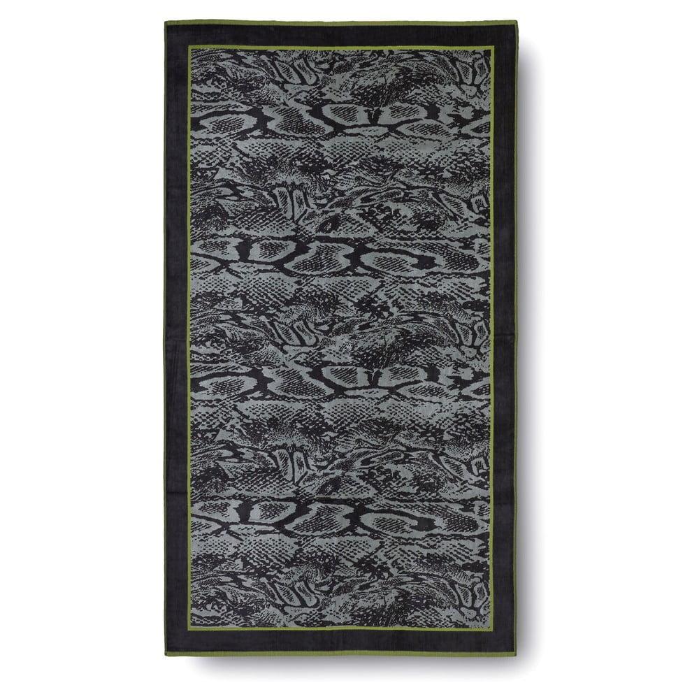 zeleno ern bavln n osu ka casa di bassi serpent 100x180 cm bonami. Black Bedroom Furniture Sets. Home Design Ideas