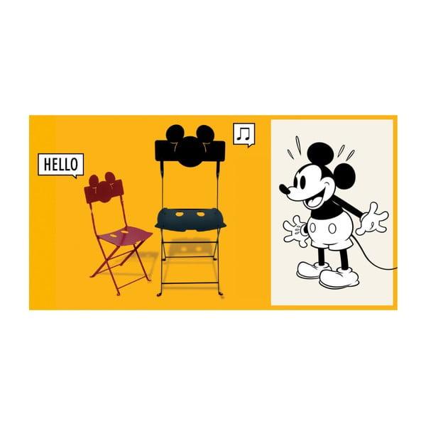 Sada 2 černých kovových zahradních židlí Fermob Bistro Mickey