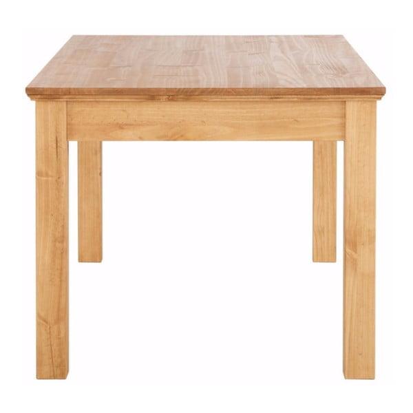 Hnědý jídelní stůl z masivního borovicového dřeva se zásuvkou Støraa Suzie