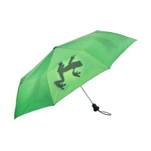 Zelený skládací deštník Von Lilienfeld Shadowfrog