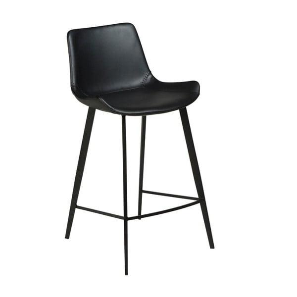 Černá koženková barová židle DAN-FORM Denmark Hype