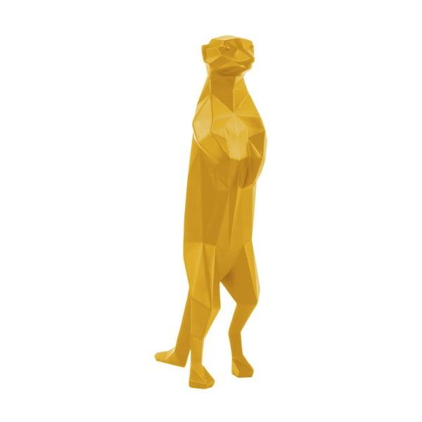 Statuetă PT LIVING Origami Meerkat, galben mat