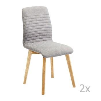 Set 2 scaune Kare Design Lara, gri de la Kare Design