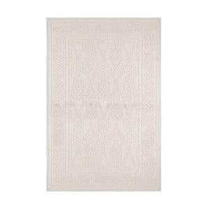 Krémový koberec s příměsí bavlny Ottoman Cream, 140 x 200 cm
