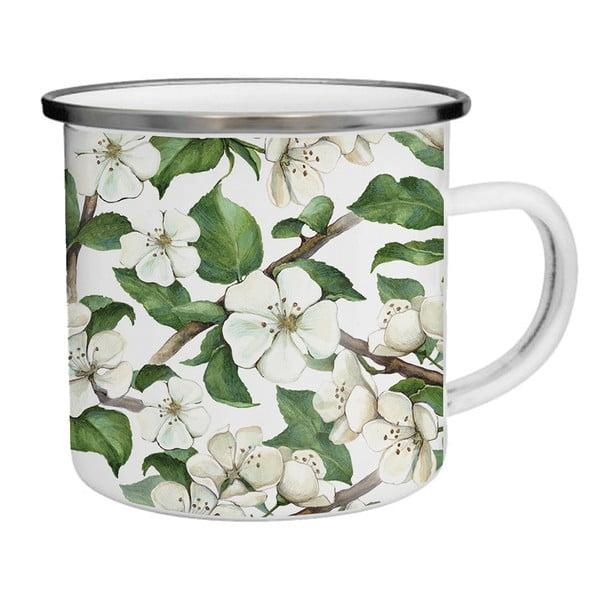 Smaltovaný hrnek s kvetoucí jabloní TinMan, 200 ml