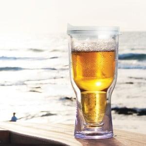 Nezničitelná sklenice na pivo Brew2Go, bílá