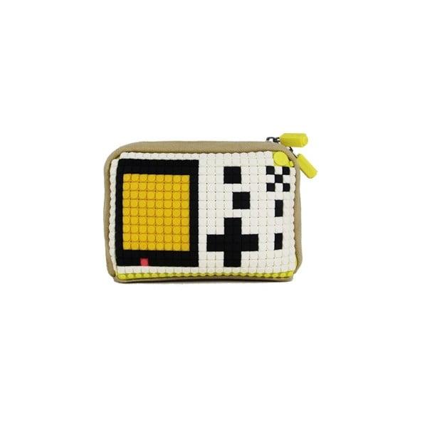 Pixelová taštička, beige/green