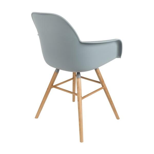 Set 2 scaune cu cotiere Zuiver Albert Kuip, gri deschis