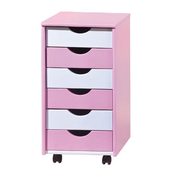 Růžovo-bílá komoda 13Casa Color