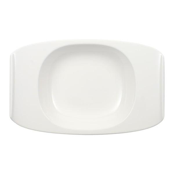 Bílý hluboký talíř z porcelánu Villeroy & Boch Urban Nature, 31 x 20 cm