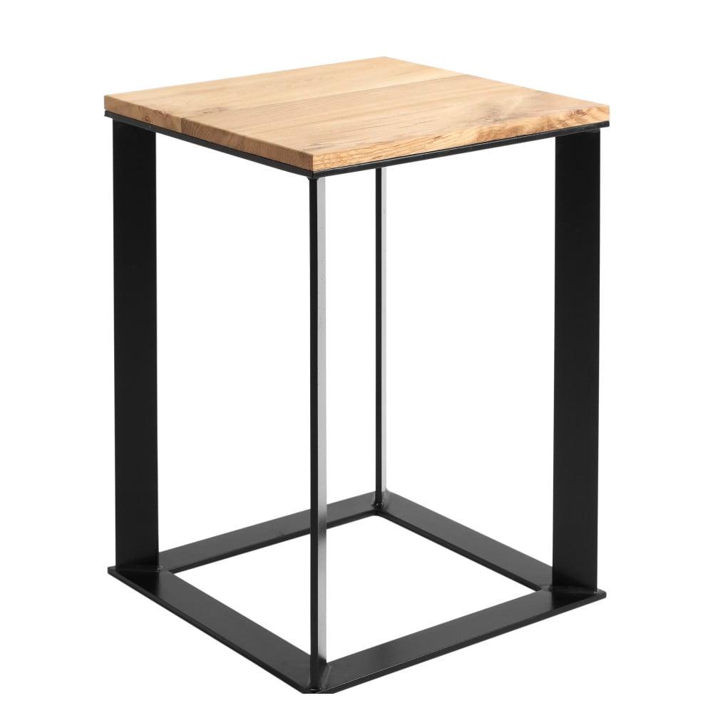 Odkládací stolek s černou konstrukcí Custom Form Skaden