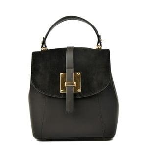 Černý kožený batoh Carla Ferreri Hagana
